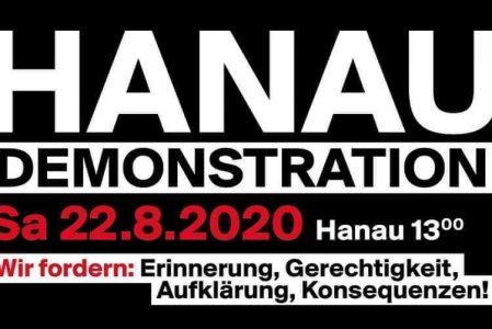 """Demonstration """"Erinnerung, Gerechtigkeit, Aufklärung, Konsequenzen"""" in Hanau"""