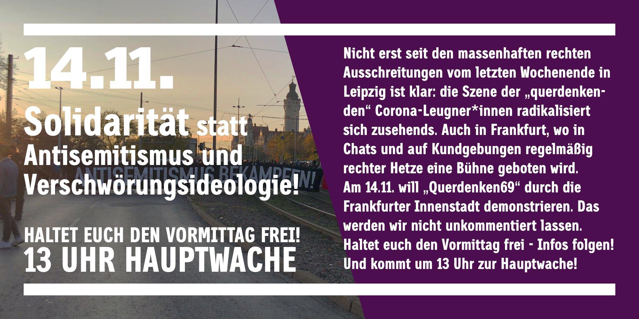 Solidarität statt Antisemitismus und Verschwörungsideologie!