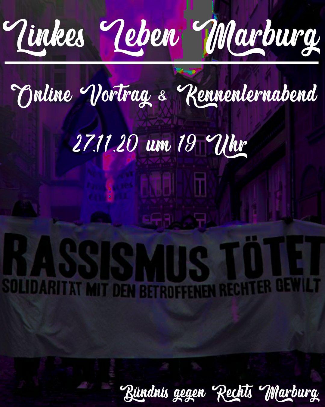 Linkes Leben Marburg – (digitaler) Vortrag & Kennenlernabend