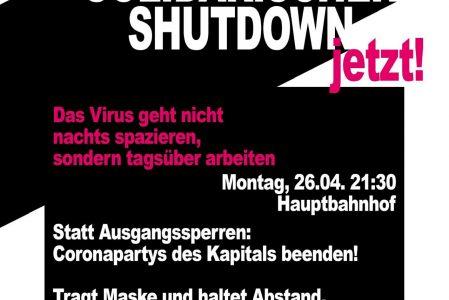 Demo: Solidarischer Shutdown statt Ausgangssperren!