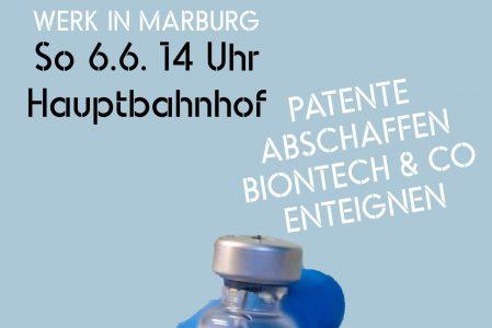 Demonstration: Impfstoff für alle – Biontech & Co enteignen